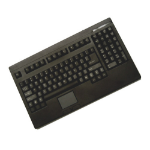 Adesso Easy-Touch Keyboard with Touchpad (Black) USB QWERTY Black keyboard