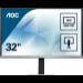 "AOC Pro-line Q3277PQU pantalla para PC 81,3 cm (32"") Quad HD LED Plana Negro"