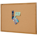 QUARTET CORKBOARD OAK FRAME 1200 X 900MM