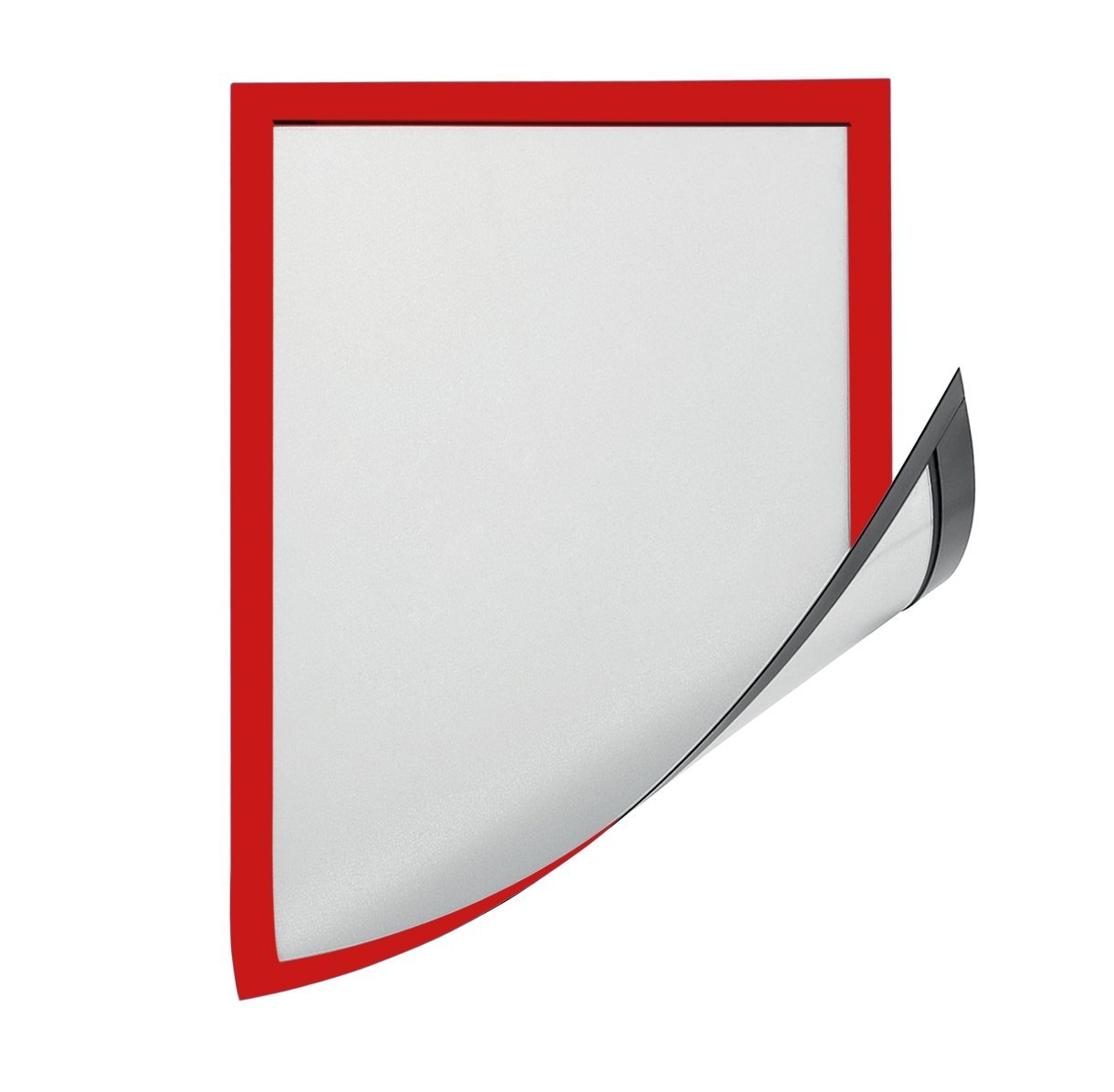 Magiboards Solo Magnetic Sign Holder A4 Red (Pack 12)