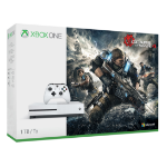 Microsoft Xbox One S + Gears of War 4 1000GB Wi-Fi White