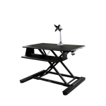 "StarTech.com Sit-Stand Desk Converter with Monitor Arm - 35"" Wide Work Surface - For up to 30"" Monitor"