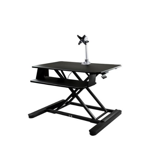 """StarTech.com Sit-Stand Desk Converter with Monitor Arm - 35"""" Wide Work Surface - For up to 30"""