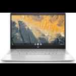 "HP Chromebook Pro c640 35.6 cm (14"") Full HD 10th gen Intel® Core™ i5 8 GB LPDDR4-SDRAM 64 GB eMMC Wi-Fi 6 (802.11ax) Chrome OS Aluminium, Silver"