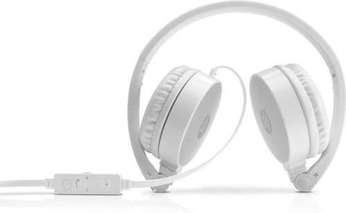 HP H2800 Head-band Binaural Wired Silver, White mobile headset