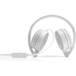 HP H2800 Head-band Binaural Wired Silver, White mobile headset