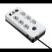 Eaton PB6D limitador de tensión 6 salidas AC 220 - 250 V Negro, Blanco 1,5 m