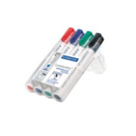 Staedtler Lumocolor marker 4 pc(s) Black,Blue,Green,Red Bullet tip