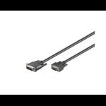 Microconnect 50990 video cable adapter 2 m DVI-I VGA (D-Sub) Black