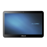 """ASUSPRO A4110-BD215X 1.6GHz J3160 15.6"""" 1366 x 768pixels Touchscreen Black All-in-One PC"""
