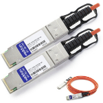 AddOn Networks 1m, 2xQSFP28 InfiniBand cable QSFP28 Black, Orange, Silver