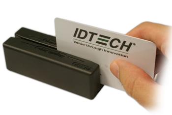 ID TECH MiniMagII lector de tarjeta magnética PS/2 Negro