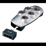 Eaton Protection Box 5 Tel@+TV DIN 5 salidas AC 220-250 V Plata