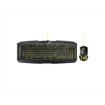 Sharkoon Shark Zone GK15 USB QWERTZ German Black,Yellow keyboard