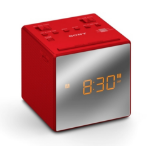 Sony ICF-C1TR radio Clock Analog Red