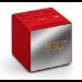 Sony ICF-C1TR Clock Analog Red