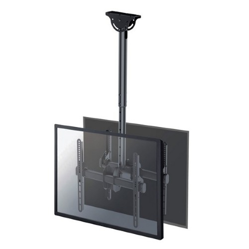 """Newstar TV/Monitor Ceiling Mount for Dual 32""""-60"""" Screens (Back to Back), Height Adjustable - Black"""