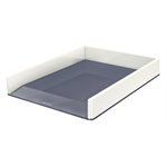 Leitz WOW Polystyrene Metallic,White desk tray