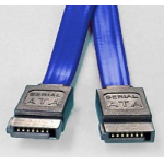 8WARE SATA 3.0 Data Cable 0.5m / 50cm Male to Male Straight 180 to 180 Degree 26AWG Blue