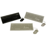 Keytronic KT800P2M PS2 Keyboard and Mouse PS/2 QWERTY Black keyboard