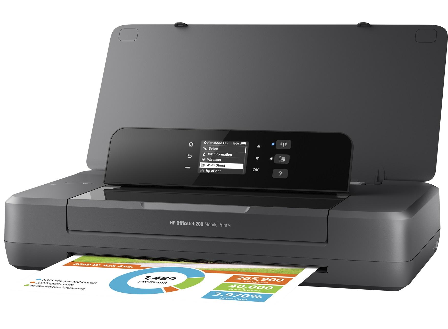 hp inc officejet 200 mobile printer cz993a bhc. Black Bedroom Furniture Sets. Home Design Ideas