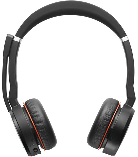 Jabra Evolve 75 MS Stereo Auriculares Diadema Negro, Rojo