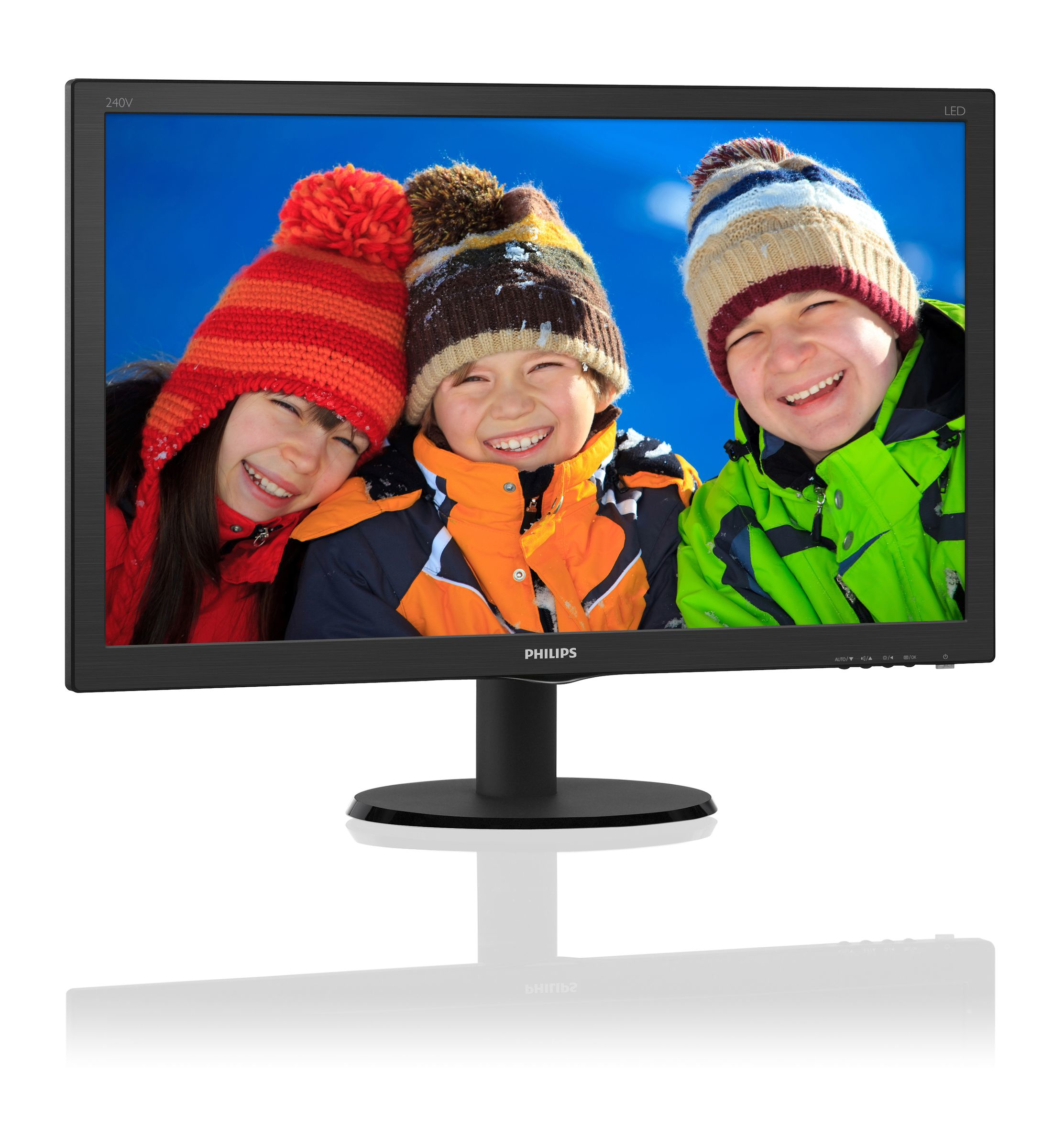 "Philips 240V5QDAB/00 23.8"" Full HD IPS Black LED display"