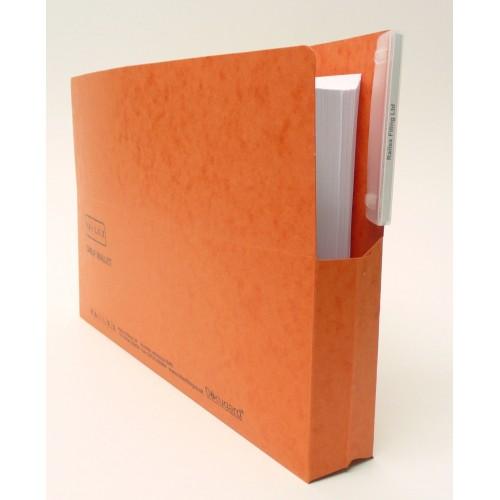 Railex Shelf Wallet Foolscap Mandarin PK25