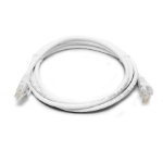 8WARE Cat 6a UTP Ethernet Cable, Snagless - White 0.5M