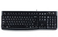 Logitech K120, US USB QWERTY International EER Black keyboard