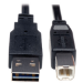 Tripp Lite Universal Reversible USB 2.0 Hi-Speed Cable (Reversible A to B M/M), 10-ft.