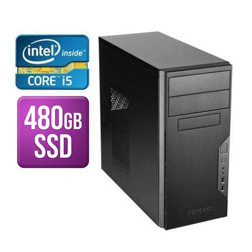 SPIREPC Spire Tower PC, Antec VSK3000B, i5-8400, 8GB, 480GB SSD, Corsair 450W, DVDRW, KB & Mouse, Wi