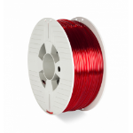 Verbatim 55062 3D printing material Polyethylene Terephthalate Glycol (PETG) Red,Transparent 1 kg