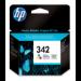 HP 342 Tri-color Inkjet Print Cartridge Original Cian, Magenta, Amarillo 1 pieza(s)