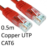TARGET RJ45 (M) to RJ45 (M) CAT6 0.5m Red OEM Moulded Boot Copper UTP Network Cable