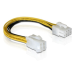 DeLOCK Cable PCI Express Power 8pin EPS > 4pin ATX/P4 power cable Multicolor 0.15 m