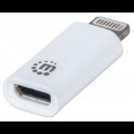 Manhattan 390620 Lightning Micro-USB B White