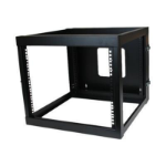 StarTech.com RK819WALLOH rack cabinet 8U Wall mounted rack Black