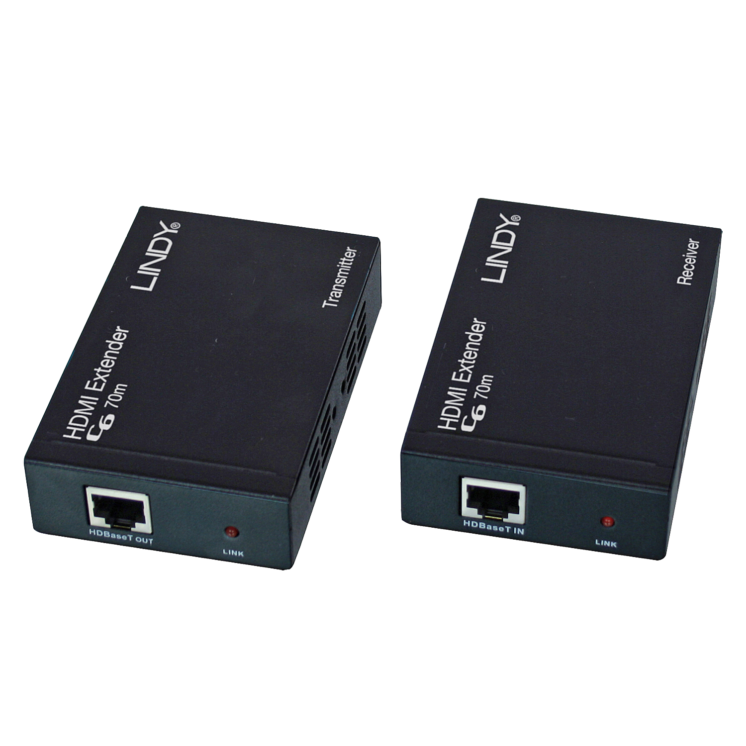Lindy 38139 AV transmitter & receiver Black AV extender
