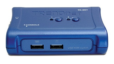 Trendnet TK-207K interruptor KVM Azul