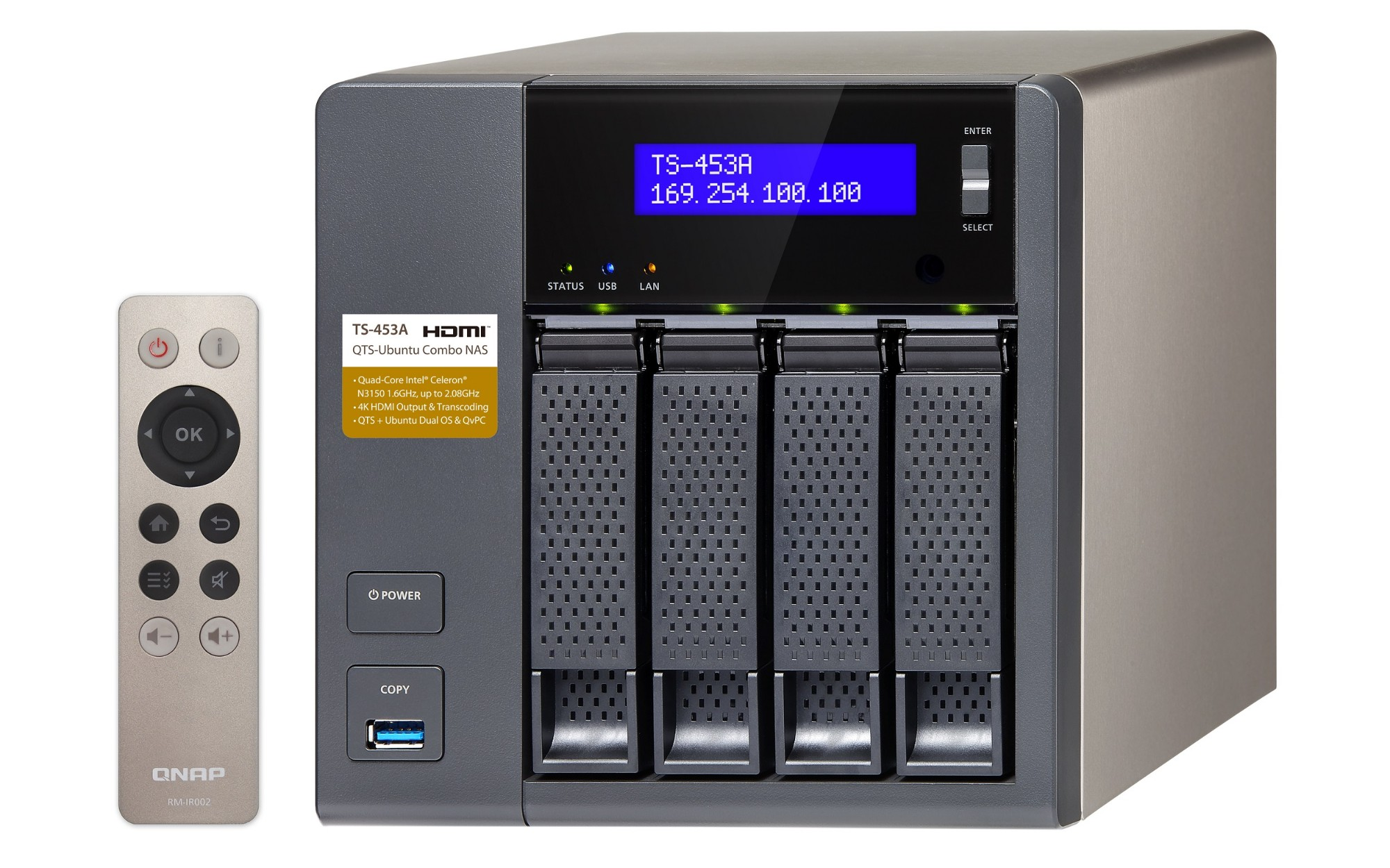 QNAP TS-453A-4G/24TB-RED PRO 4 Bay NAS