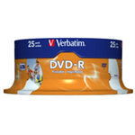 Verbatim 43538 blank DVD 4.7 GB DVD-R 25 pc(s)