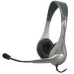 Cyber Acoustics AC-201 Binaural Wired Black,Silver mobile headset