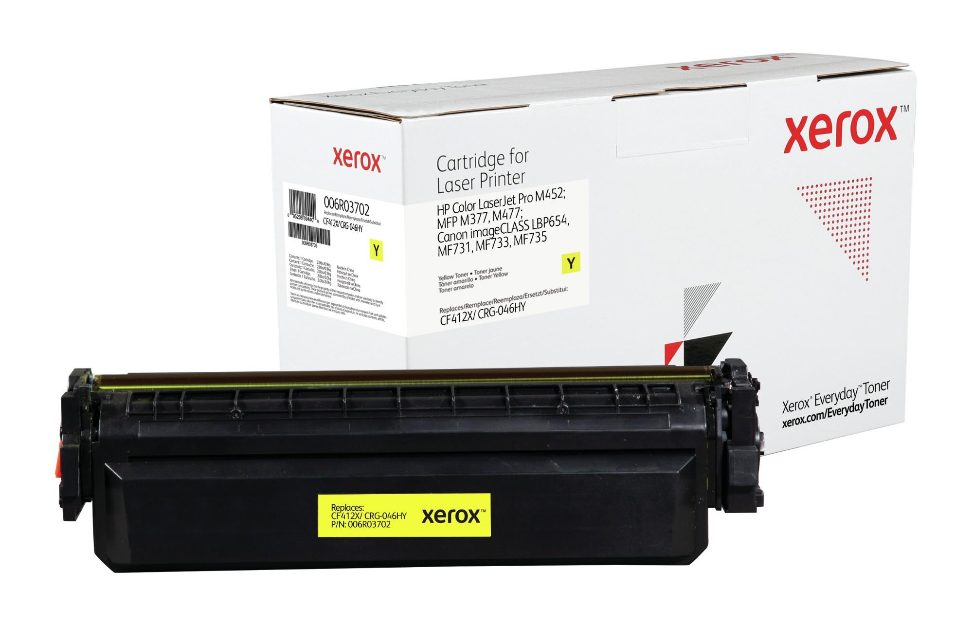 Xerox Tóner de Alto rendimiento Amarillo Everyday, HP CF412X/ CRG-046HY equivalente de , 5000 páginas