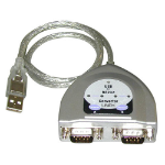 Lindy USB -> Serial Converter - 2 Port (RS232) serial cable Silver 0.6 m USB 1.1 RS-232