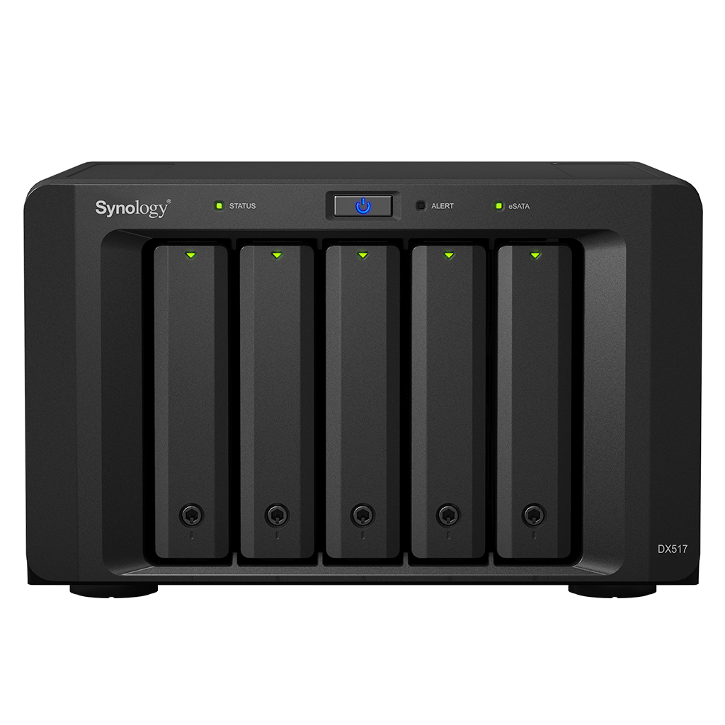 Synology DX517 disk array Desktop Zwart