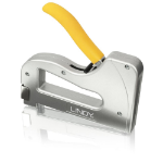 Lindy Heavy Duty Cable Tacker Stainless steel, Yellow