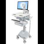 Ergotron StyleView Aluminium, Grey, White Flat panel Multimedia cart