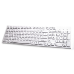 Accuratus KYBAC301-USBWHT USB QWERTY English White keyboard