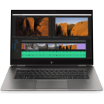 "HP ZBook Studio G5 Silver Mobile workstation 39.6 cm (15.6"") 1920 x 1080 pixels 9th gen Intel® Core™ i7 16 GB DDR4-SDRAM 512 GB SSD NVIDIA® Quadro® P1000 Wi-Fi 5 (802.11ac) Windows 10 Pro"